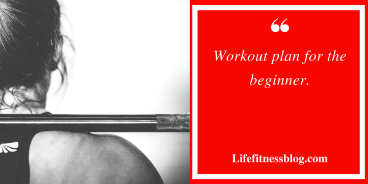 Workout plan for the beginner.